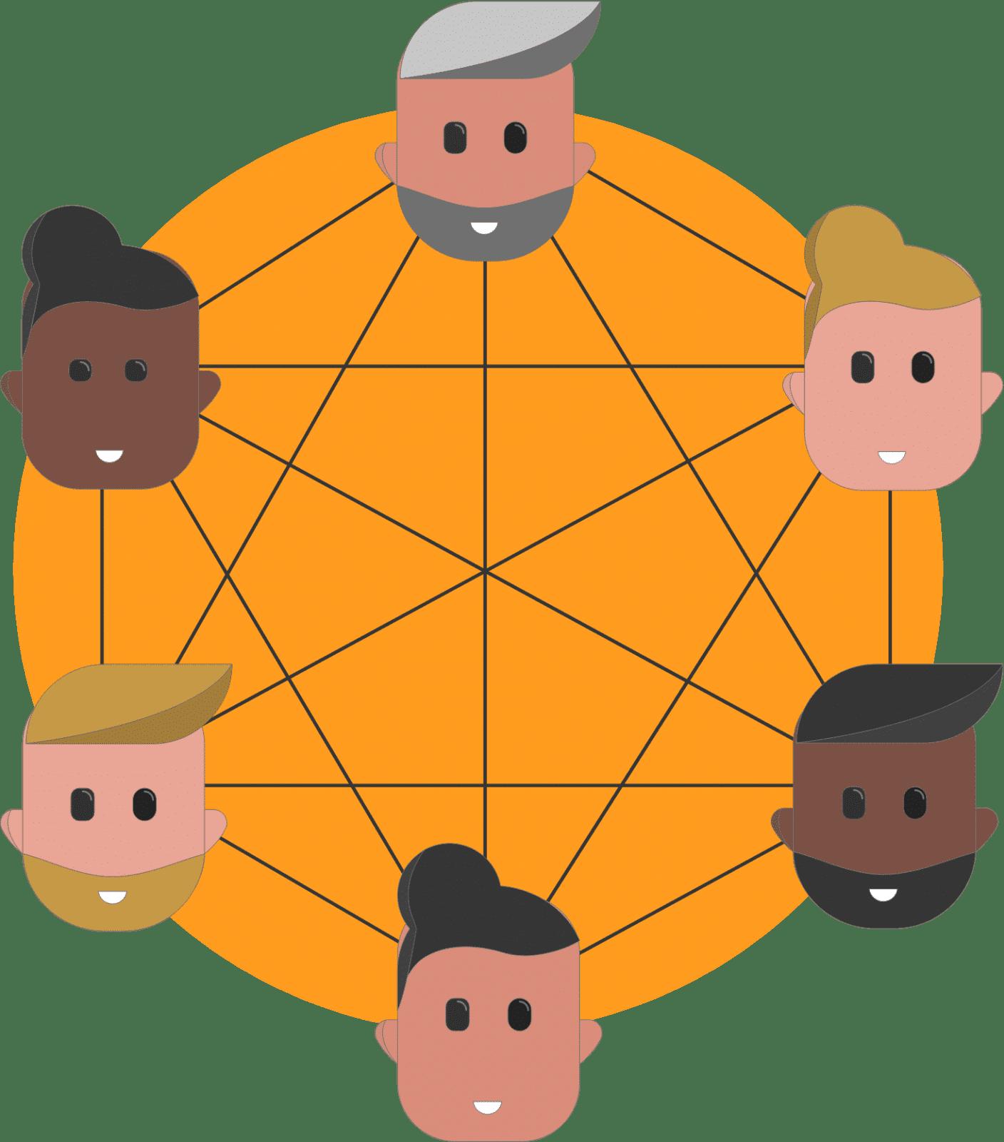 Illustratie samenwerkend team