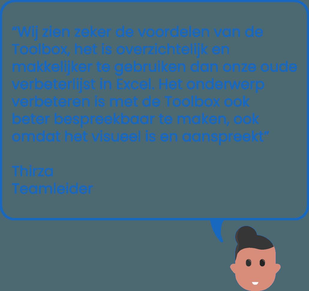 Illustratie commentaar van teamleider in gebruik van programma